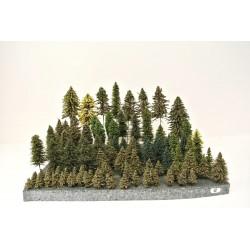 HO - Stromky,les, VÝPRODEJ,3-25cm,96ks (12)
