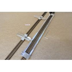 N/PE/L300/C1, Šablona rovná pro pokládku flexi kolejí PECO-N,délka 300mm + 2 nastavitelné spojky
