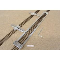 TT/K/L300/C1, Šablona rovná pro pokládku flexi kolejí KUEHN-TT,délka 300mm + 2 nastavitelné spojky