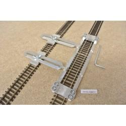 TT/T/L150/C1, Šablona rovná pro pokládku flexi kolejí TILLIG-TT,délka 150mm + 2 nastavitelné spojky