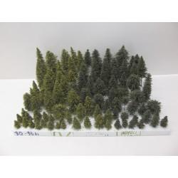 HO,TT,N,Stromky,lesy, VÝPRODEJ, 3-14cm,ca 96ks (30)