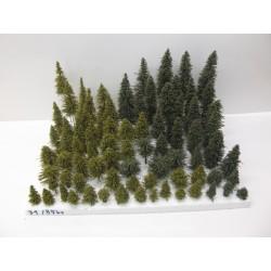HO,TT Stromky,lesy, VÝPRODEJ, 3-20cm,ca 85ks (31)