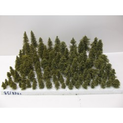 HO,TT,N Stromky,lesy, VÝPRODEJ, 3-17cm,ca 87ks (35)