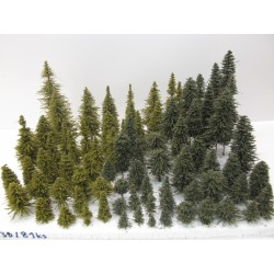 HO,TT,N Stromky,lesy, VÝPRODEJ, 3-21cm,ca 81ks (36)