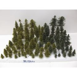 HO,TT,N Stromky,lesy, VÝPRODEJ, 3-18cm,ca 864ks (38)