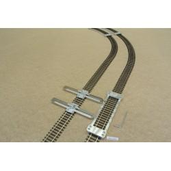 HO/P/L150/C1, Šablona rovná pro pokládku flexi kolejí HO PIKO,délka 150mm + 2 nastavitelné spojky