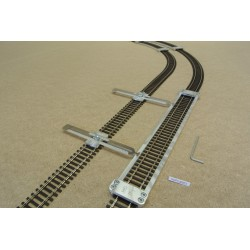 HO/P/L300/C1, Šablona rovná pro pokládku flexi kolejí HO PIKO,délka 300mm + 2 nastavitelné spojky