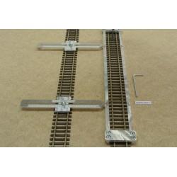 HO/PE/L300/C1, Šablona rovná pro pokládku flexi kolejí HO PECO,délka 300mm + 2 nastavitelné spojky