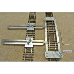 HO/R/L150/C1, Šablona rovná pro pokládku flexi kolejí HO ROCO,délka 150mm + 2 nastavitelné spojky