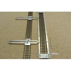 HO/R/L300/C1, Šablona rovná pro pokládku flexi kolejí HO ROCO LINE,délka ,300mm + 2 nastavitelné spojky