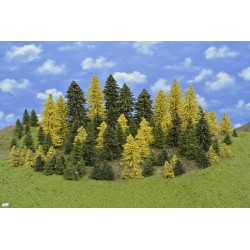 LES HO3, smrky, borovice, modříny, 3-18 cm