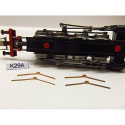 K29A/TT,Kontakty pro TT lok. BR81,82 ZEUKE ( kovový rám),neoriginální,4ks