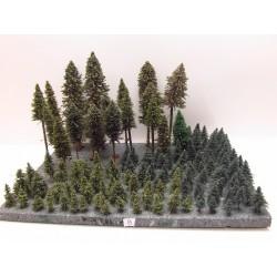HO(TT) Stromky,les, VÝPRODEJ, 4-26cm,ca129ks (8)