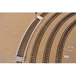 Šablona pro pokládku TT flexi kolejí TILLIG,radius 396,0mm,TT/T/R396