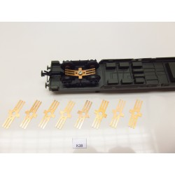 K38/TT/HO-Kontakty pro osvětlení vozů HO/TT, 8-50ks, neoriginální