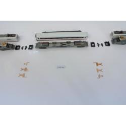 T7/SET/B1, Neoriginální nenaohýbané kontakty pro ICE soupravu N-Minitrix-střední vůz, 6ks