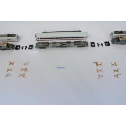 T7/SET/B, Neoriginální nenaohýbané kontakty pro ICE soupravu N-Minitrix, 12ks