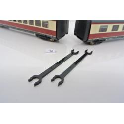 """T8A, Neoriginální spojka """"dlouhá"""" pro lokomotivu ROCO HO, BR VT 11.5, 2ks"""