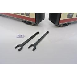 """T8B, Neoriginální spojka """"krátká"""" pro lokomotivu ROCO HO, BR VT 11.5, 2ks"""